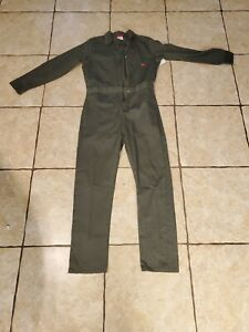 Dickies Long Sleeve Jumpsuit Coverall Green Size Small/Medium New With Tags