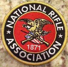 "BRAND NEW- NATIONAL RIFLE ASSOC/ NRA EMBROIDERED PATCH 3"" Round. Nice!"