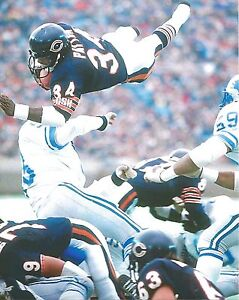 WALTER PAYTON 8X10 PHOTO CHICAGO BEARS PICTURE VS LIONS NFL