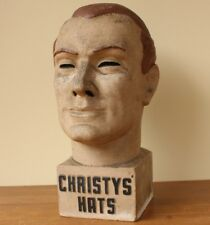 Vintage Christys' Hats Male Advertising Head. Dummy Milliner Display Stand c1930