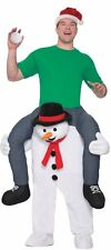 Snowman Ride On Costume Carry Me Adult Mens Funny Snow Man Frosty - Fast Ship -