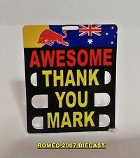 "1:18 Pitboard Formula 1 Mark Webber Red Bull Brasil 2013 ""AWESOME""to minichamps"