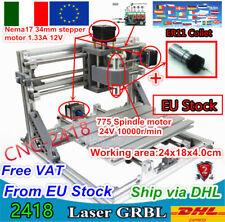 『IT』2418 Desktop CNC Router Kit MINI laser macchina Incisione fresatura PCB+ER11