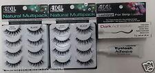 2LOT Ardell DEMI WISPIES MULTI PACK (8 Pairs) Eyelashes + Strip Glue 0.25oz