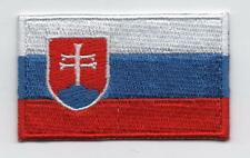Embroidered SLOVAKIA Flag Iron on Sew on Patch Badge HIGH QUALITY APPLIQUE