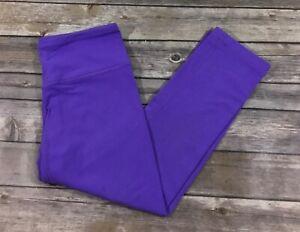 Lululemon Womens Wunder Under Crop Leggings 4 6 Power Purple Yoga Gym GUC E66