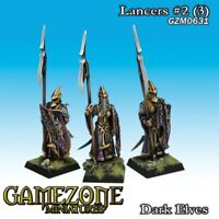Gamezone Miniatures: Dark Elves - Lancers II (female) (3) - GZM0631