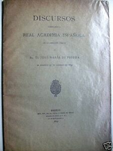 Discurso RAE José María de Pereda 1897.
