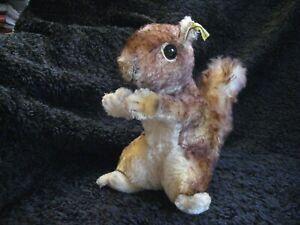 Rare 1960/78 German Steiff XL Squirrel w. Button & Tag ! Perri !