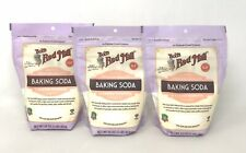 3-Pk Bob's Red Mill Baking Soda 16 Oz Stand-up Resealable Pouch, Gluten Free (Y4