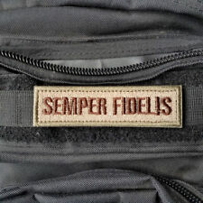 Semper Fidelis Fi Morale Hook Patch Swat USMC Marsoc Raiders Marine Corps Desert