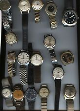 HUGE LOT  MENS GENTS ANTIQUE & VINTAGE WATCHES COMPLETE & RUNNING KEEPING TIME