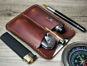 EDC pocket organizer EDC wallet leather EDC organizer EDC pouch pocket knife men