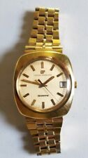 1970's Girard Perregaux Quartz 18k Filled/Plated Men's Watch With Original Band