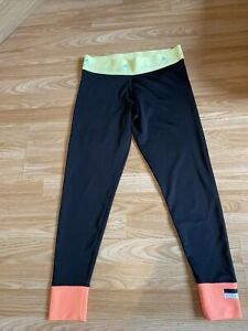 Women's Adidas X Stella McCartney climalite Leggings | Black | Neon | size Mediu