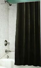 RIDEAU DE DOUCHE 180x200cm NOIR + 12 crochets  100% PEVA