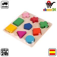 JUEGO MADERA 9 PIEZAS FORMAS educativo juguete niño regalo *Envío GRATIS desde E