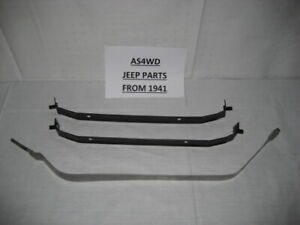 Fuel Gas Tank Strap For 73-90 Jeep Wrangler CJ for 15 Gallons Set Of 3