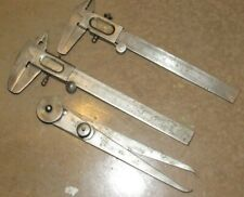 2 Vintage Supreme West Germany Calipers & L.S. Starret Compass