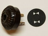 BROWN RIBBED EMBOSSED EARLY ELECTRIC POLARIZED PLUG FOR ANTIQUE LAMPS 48540JB
