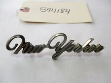 1971-78? Chrysler New Yorker Gold Script Emblem Badge OEM 3569955