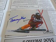 Tommy Moe Signed Olympic 4x6 Photo & Fanclub Packet PSA Beckett Guaranteed