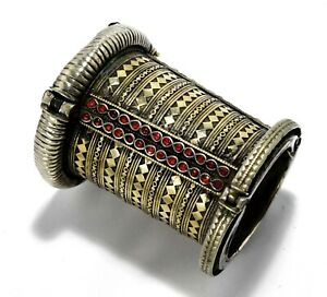 Vintage Afghan Kuchi Tribal Warrior Bracelet Turkmen Ethnic Boho Dance Jewelry