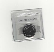 **1985** Coin Mart Graded Canadian  50 Cent, **SP-67**
