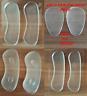 3 Pair Gel Silicona Zapato Talón Protector Horquilla Espalda Plantilla Compresas
