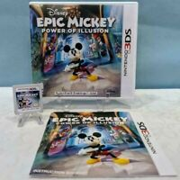Epic Mickey: Power of Illusion (Nintendo 3DS, 2012) with Manual - Working