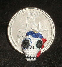 Micro Crochet Day of The Dead Skull 1:12 Mexican Halloween Miniature #1831