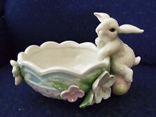 FREE S&H Lenox Easter Flower Patch Bunny Bowl Rabit Figurine Sculpture New Box