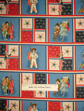Young Patriots Patriotic Vintage Children Star Patch Block Cotton Fabric PANEL
