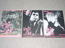 PUNK'S NOT DEAD movie Japan flyer x4 GREEN DAY Rancid GBH The Damned MCR set