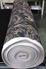 "HARVEST TRUE TIMBER CAMOUFLAGE AUTO HEADLINER CAMO FABRIC 3/16"" FOAM BACK BY YD"