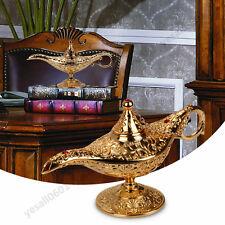 Metal Carved Aladdin Lamp Magic Vintage Home Tea Oil Pot Arabian Arts Craft Gift