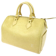 AUTHENTIC LOUIS VUITTON SPEEDY 25 HAND BAG PURSE VANILLA EPI M4301A BT13072