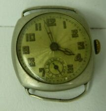 ANTIQUE SWISS MADE ART DECO SUB SECOND MENS WATCH 15 JEWEL