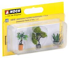 Noch 14018 - H0 1:87 - Taglio Laser piante ornamentali in blumenkübeln - NUOVO