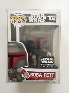 NIB Pop Funko Star Wars 102 Boba Fett Star Wars Smuggler's Bounty Exclusive