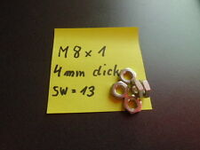 10 Stck Sechskantmuttern Feingewinde M8 x 1 Sechskantmutter Muttern Flachmutter