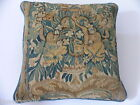 ANTIQUE 17th CENTURY FLEMISH BRUSSELS TAPESTRY PILLOW