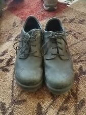 Red Wing 6663 black leather steel toe oxfords work shoes 10d good condition