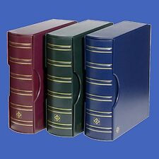 Certified 54 Coin Album Lighthouse Grande G Binder Slipcase 6 Pages Red/Burgundy