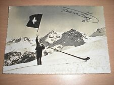 A SIGNED Postcard of FRANZ HUG From The 1936 Olympic Games In Berlin