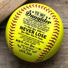 To My Daughter Deep From Love Dad Softball Ball Birthday Graduation Gift Holiday