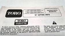"1993 TORO 72"" CUTTING UNITS  Operators Manual"