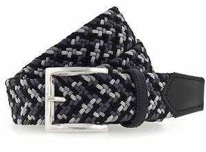 b.belt Luca Stretch Belt W100 Gürtel Accessoire Black - Light Grey Schwarz Grau
