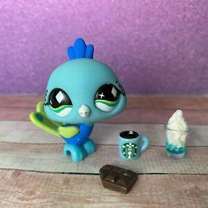 100% AUTHENTIC Littlest Pet Shop LPS #463 Blue Peacock w Accessories