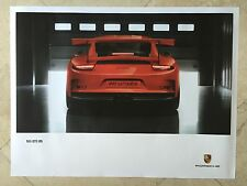 Porsche Original Factory Poster-2015 Carrera 911 | 991 GT3 RS-Rear Shot